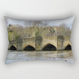 Bakewell bridge 2 Rectangular Pillow
