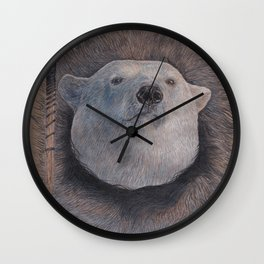 Inuit Polar Bear Wall Clock