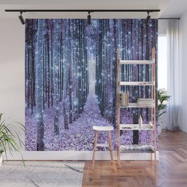 Magical Forest Lavender Ice Blue Periwinkle Wall Mural