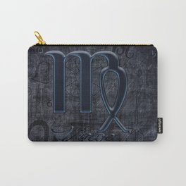 Zodiac Sign Virgo in Grunge Style Carry-All Pouch