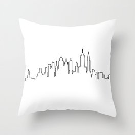 New York City Skyline Silhouette Throw Pillow