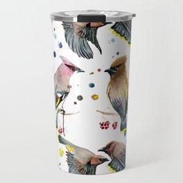 Cedar Waxwing Study Travel Mug