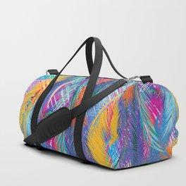 Tropical leaves - colorful Duffle Bag