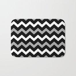 Black White & Grey Chevron Print Pattern Bath Mat
