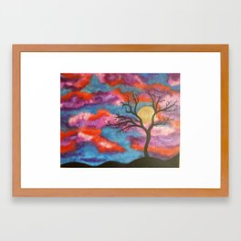 In Red Framed Art Print