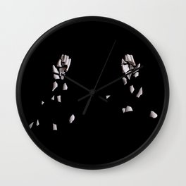 Broken porcelain hands Wall Clock