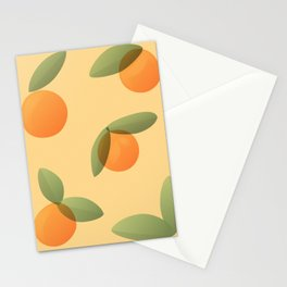 Oranges and Leaves Stationery Cards
