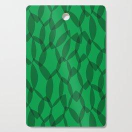 Overlapping Leaves - Dark Green Cutting Board