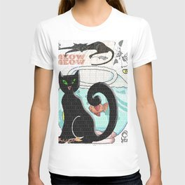 Meow Cat and Mouse Art T-shirt