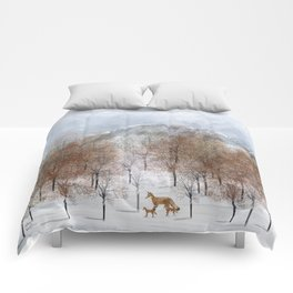 nature will find a way deux Comforters