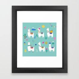 Hola, Llama Framed Art Print