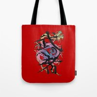 dragon Tote Bags featuring Dragon by Spooky Dooky