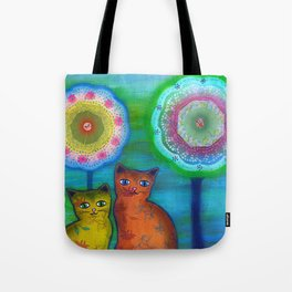 Cats and Trees Tote Bag