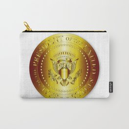 Presedent Seal In Gold Carry-All Pouch