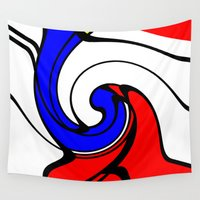 picasso Wall Tapestries featuring When Mondrian met Picasso by aapshop