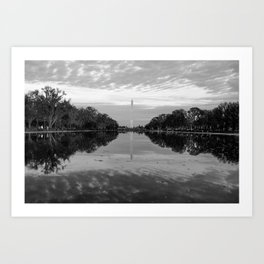 Reflecting Pool- Washington DC Art Print