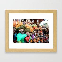 Aromatic garland. Christmas Market Framed Art Print