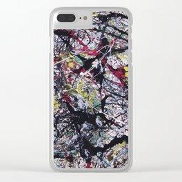 A Jackson Pollak style art digitally vectorised Clear iPhone Case