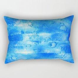 Blue Blue Blue Rectangular Pillow