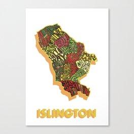 Islington - London Borough - Colour Canvas Print