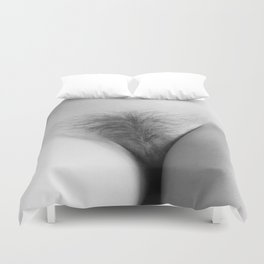 Origin. Delicate Pussy of Sexy Nude Woman Duvet Cover