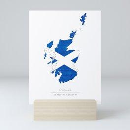Scotland Flag Country Outline Mini Art Print