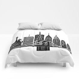Linocut New York Comforters