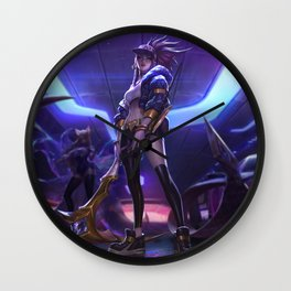 KDA Akali League Of Legends Wall Clock