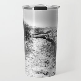 Snowy Country Lane Travel Mug