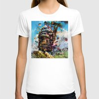 chihiro T-shirts featuring howl's moving castle by ururuty