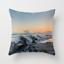 Santa Barbara Coastline Throw Pillow