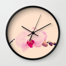 GENTLE ORCHID I Wall Clock