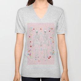 together forever pink background Unisex V-Neck