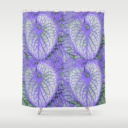 LILAC VEINED TROPICAL LEAVES PATTERN ART Shower Curtain
