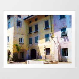 Egna, South Tryol, Italy Art Print