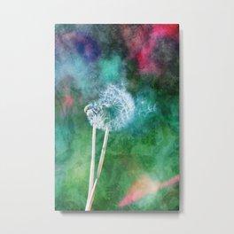 Dreamy Dandelion Metal Print