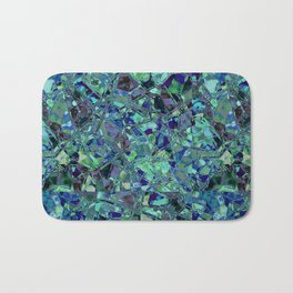 Blue And Green Stained Glas Bath Mat