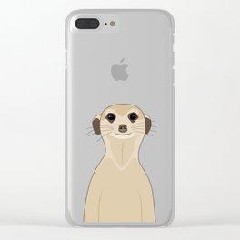 Meerkats Kalahari Desert Clear iPhone Case