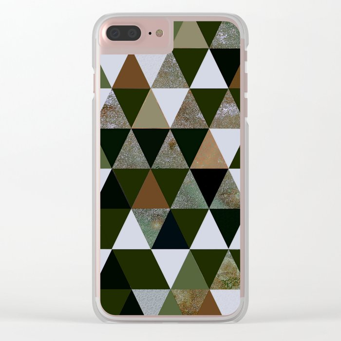 Abstract #344 Clear iPhone Case