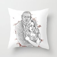 kendrawcandraw Throw Pillows featuring I think the kids are in trouble by kendrawcandraw