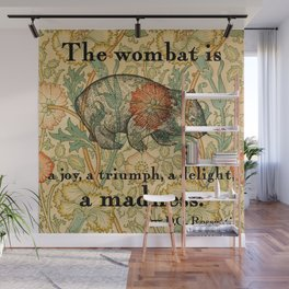 Ode to a Wombat Wall Mural
