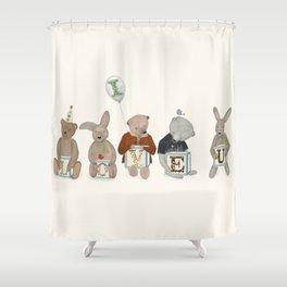 i love u Shower Curtain