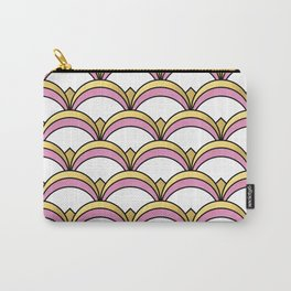 Pink and Gold Art Deco Pattern Carry-All Pouch