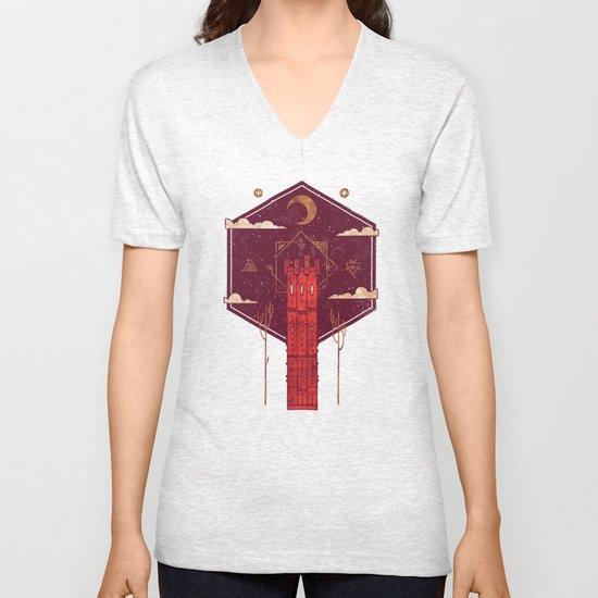 The Crimson Tower Unisex V-Neck