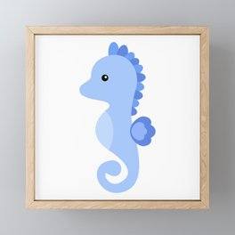 Seahorse cute vector illustration Framed Mini Art Print