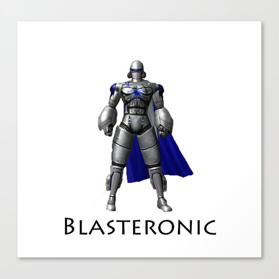 Blasteronic Canvas Print