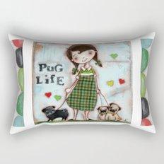 Pug Life - by Diane Duda Rectangular Pillow