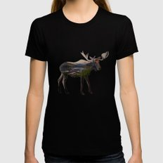 The Alaskan Bull Moose Black LARGE Womens Fitted Tee