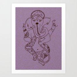 Ganesha Blush Art Print