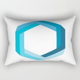 Impossible shape: blue hexagon Rectangular Pillow